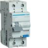 Дифференциальный автоматический выключатель 16 А / 30mA / C хар /  A тип / 6kA / 1+N полюс / Hager