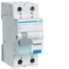Дифференциальный автоматический выключатель 10 А / 30mA / B хар /  A тип / 6kA / 1+N полюс / Hager