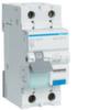 Дифференциальный автоматический выключатель 20 А / 30mA / B хар /  A тип / 6kA / 1+N полюс / Hager