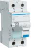 Дифференциальный автоматический выключатель 20 А / 30mA / C хар /  A тип / 6kA / 1+N полюс / Hager