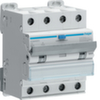 Дифференциальный автоматический выключатель 6 А / 30mA / C хар /  A тип / 6kA / 4 полюса / Hager