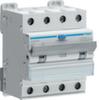 Дифференциальный автоматический выключатель 10 А / 30mA / C хар /  A тип / 6kA / 4 полюса / Hager