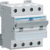 Дифференциальный автоматический выключатель 10 А / 300mA / C хар /  A тип / 6kA / 4 полюса / Hager