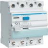Устройство защитного отключения 40 А / 30mA / A тип / 4 полюса / безвиновые зажимы / Hager