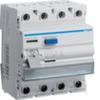 Устройство защитного отключения 25 А / 500mA / A тип / 4 полюса / Hager