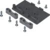 Держатель для напольного гибкого короба Hager, с устройством разгрузки проводов от натяжения, полиамид, RAL9005 чёрный