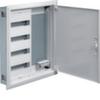 Щит Hager скрытой установки, 1 секция для модульных устройств 48 мод., 1 секция с перфорированной монтажной панелью + розетка 4 гнезда. Сделано в Германии