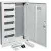 Щит Hager скрытой установки, 1 секция для модульных устройств 60 мод., 1 секция с перфорированной монтажной панелью + розетка 3 гнезда(поворотная) + пач-панель. Сделано в Германии