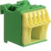 Блок PE-клемм 6 клеммных выходов: 5х4мм2 безвинтовых, 1х16мм2 винтовой, ширина - 30мм. Hager