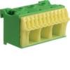 Блок PE-клемм 14 клеммных выходов: 11х4мм2 безвинтовых, 3х16мм2 винтовой, ширина - 60мм. Hager