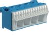 Блок N-клемм 18 клеммных выходов: 14х4мм2 безвинтовых, 4х16мм2 винтовой, ширина - 75мм. Hager