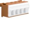 Блок P-клемм 18 клеммных выходов: 14х4мм2 безвинтовых, 4х16мм2 винтовой, ширина - 75мм. Hager