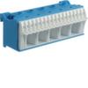 Блок N-клемм 22 клеммных выходов: 17х4мм2 безвинтовых, 5х16мм2 винтовой, ширина - 90мм. Hager