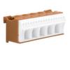 Блок P-клемм 22 клеммных выходов: 17х4мм2 безвинтовых, 5х16мм2 винтовой, ширина - 90мм. Hager