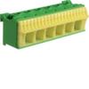 Блок PE-клемм 26 клеммных выходов: 20х4мм2 безвинтовых, 6х16мм2 винтовой, ширина - 105мм. Hager