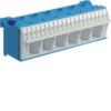 Блок N-клемм 26 клеммных выходов: 20х4мм2 безвинтовых, 6х16мм2 винтовой, ширина - 105мм. Hager
