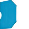 Принадлежность для наборных клемм Изолятор торцевой для KXA02NH,KXA04NH, синий