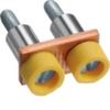 Принадлежность для наборных клемм Соединитель, на 2 клеммы 16мм2 поперечный, винтовой, с защитой от прикосновения KXA16L, KXA16N