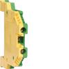 Клемма Наборная, винтовая, заземляющая PE, 0.5 - 2.5мм2, 500В, проходная,жёлто-зелёная