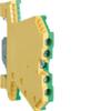 Клемма винтовая, для дин-рейки, PE 0,5 - 4 мм2, 4 контакта, жёлто-зелёная, Hager