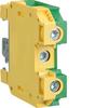 Клемма Наборная, винтовая, заземляющая PE, 6 - 35мм2, 400В, проходная,жёлто-зелёная