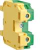Клемма Наборная, винтовая, заземляющая PE, 10 - 70мм2, 800В, проходная,жёлто-зелёная