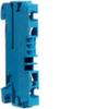 Клемма Наборная, N, 0.13 - 2.5мм2, пружинные конт., 800В/24A, проходная,синяя