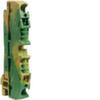 Клемма Наборная, заземляющая PE, 0.13 - 4мм2, пружинные конт., 800В, проходная,жёлто-зелёная