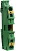 Клемма Наборная, заземляющая PE, 4 - 16мм2, пружинные конт., 800В, проходная,жёлто-зелёная