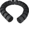 Цилиндрический короб Hager, гибкий, Ø70мм, Lmax=1м, ПВХ, цвет черный RAL9005