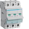 Выключатель нагрузки Hager - рубильник 80A, 3-пол., 3 модуля, 230-400В
