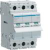 Выключатель нагрузки Hager - рубильник 125A, 3-пол., 3 модуля, 230-400В