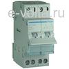 Групповой переключатель Hager с нулевым положением(с основного питания на генератор), 40A, 2-пол., 2 модуля