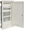 Щит Volta Hager скрытой установки, для полых стен (гипсокартон), мультимедийный с монт. панелями, тройной розеткой Schuko, патч-панелью и держателем роутера IP30, RAL9010, made in Germany