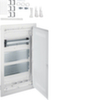 Щит Volta Hager скрытой установки (дверь с пластиковой вставкой ), мультимедийный с монтажными панелями, тройной розеткой Schuko, патч-панелью и держателем роутера, IP30, RAL9010, made in Germany